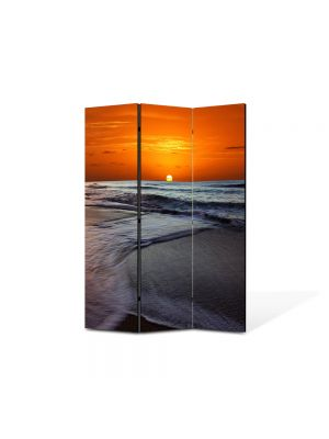 Paravan de Camera ArtDeco din 3 Panouri Peisaj Soare sub apa 105 x 150 cm