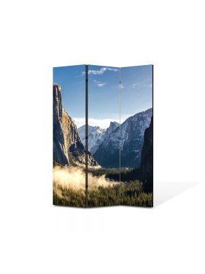 Paravan de Camera ArtDeco din 3 Panouri Peisaj Stanci 105 x 150 cm