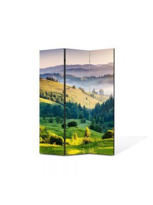 Paravan de Camera ArtDeco din 3 Panouri Peisaj Depresiuni 105 x 150 cm