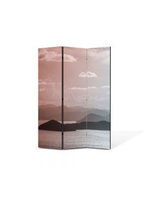 Paravan de Camera ArtDeco din 3 Panouri Peisaj Insulite 105 x 150 cm