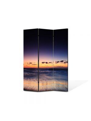 Paravan de Camera ArtDeco din 3 Panouri Peisaj Asfintit 105 x 150 cm