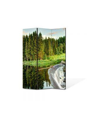 Paravan de Camera ArtDeco din 3 Panouri Peisaj Cascada mare 105 x 150 cm