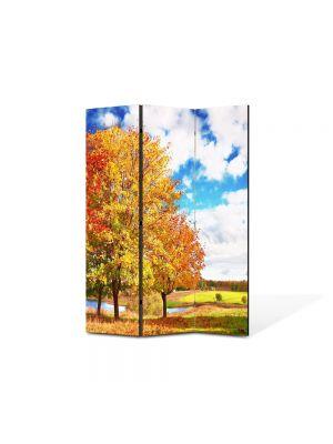 Paravan de Camera ArtDeco din 3 Panouri Peisaj de toamna 105 x 150 cm