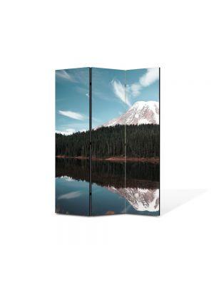Paravan de Camera ArtDeco din 3 Panouri Peisaj Creasta de munte 105 x 150 cm