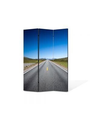 Paravan de Camera ArtDeco din 3 Panouri Peisaj Linie dreapta 105 x 150 cm