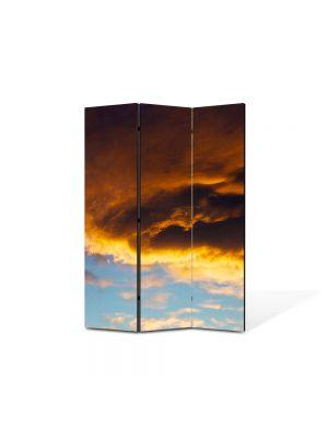 Paravan de Camera ArtDeco din 3 Panouri Peisaj Va ploua 105 x 150 cm