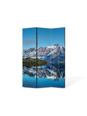 Paravan de Camera ArtDeco din 3 Panouri Peisaj Munti peste ape 105 x 150 cm