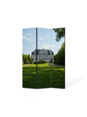 Paravan de Camera ArtDeco din 3 Panouri Peisaj La palat 105 x 150 cm