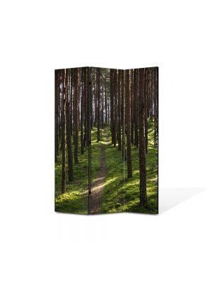 Paravan de Camera ArtDeco din 3 Panouri Peisaj Poteca 105 x 150 cm