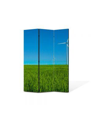 Paravan de Camera ArtDeco din 3 Panouri Peisaj Eoliana 105 x 150 cm