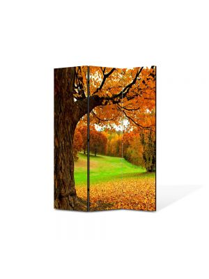Paravan de Camera ArtDeco din 3 Panouri Peisaj Covor aramiu 105 x 150 cm