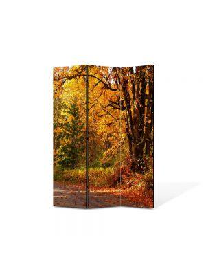 Paravan de Camera ArtDeco din 3 Panouri Peisaj Amestec delori de toamna 105 x 150 cm