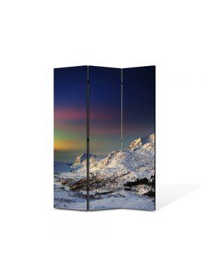 Paravan de Camera ArtDeco din 3 Panouri Peisaj Suedia 105 x 150 cm
