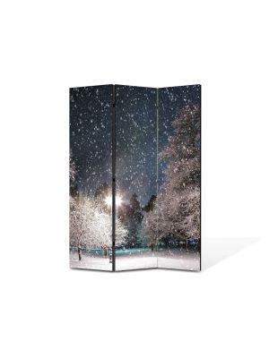 Paravan de Camera ArtDeco din 3 Panouri Peisaj Cer plin de stele 105 x 150 cm