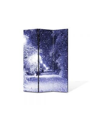 Paravan de Camera ArtDeco din 3 Panouri Peisaj Ninge 105 x 150 cm