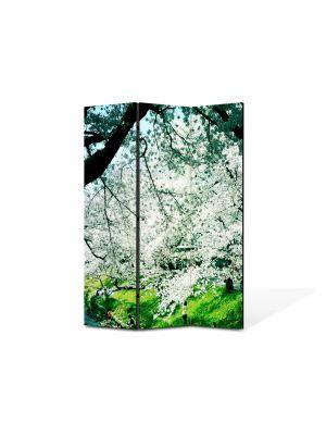 Paravan de Camera ArtDeco din 3 Panouri Peisaj de primavara 105 x 150 cm