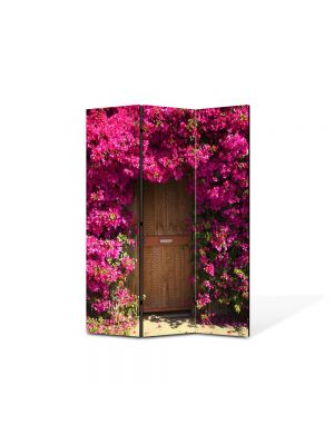 Paravan de Camera ArtDeco din 3 Panouri Peisaj Poarta de flori 105 x 150 cm