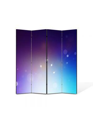 Paravan de Camera ArtDeco din 4 Panouri Abstract Decorativ Lumina puternica 140 x 150 cm