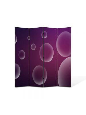 Paravan de Camera ArtDeco din 4 Panouri Abstract Decorativ Bule 140 x 150 cm