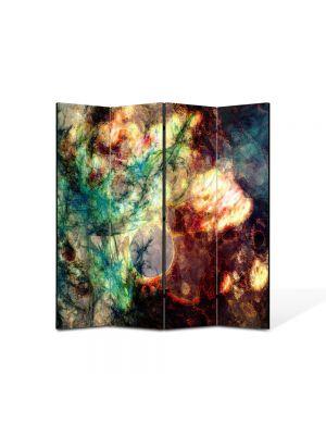 Paravan de Camera ArtDeco din 4 Panouri Abstract Decorativ Crepuscul 140 x 150 cm