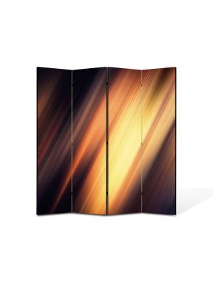 Paravan de Camera ArtDeco din 4 Panouri Abstract Decorativ Fante de lumina 140 x 150 cm