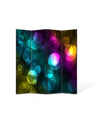 Paravan de Camera ArtDeco din 4 Panouri Abstract Decorativ Luminite 140 x 150 cm