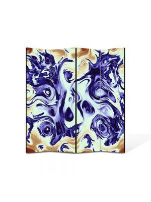 Paravan de Camera ArtDeco din 4 Panouri Abstract Decorativ Pastel 140 x 150 cm