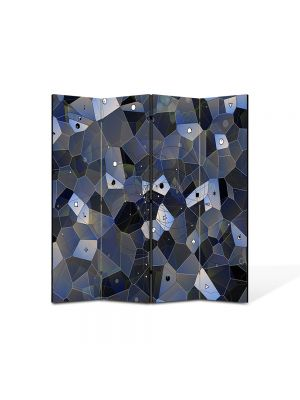 Paravan de Camera ArtDeco din 4 Panouri Abstract Decorativ Ochi 140 x 150 cm