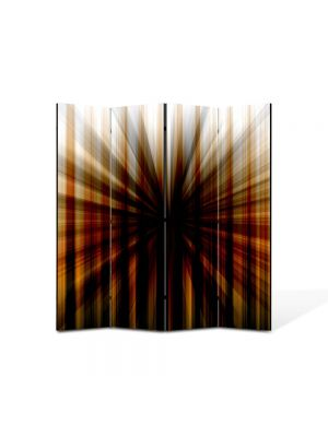Paravan de Camera ArtDeco din 4 Panouri Abstract Decorativ Gaura neagra 140 x 150 cm
