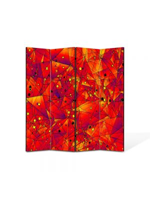 Paravan de Camera ArtDeco din 4 Panouri Abstract Decorativ Aproape de soare 140 x 150 cm