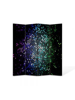 Paravan de Camera ArtDeco din 4 Panouri Abstract Decorativ Tari 140 x 150 cm