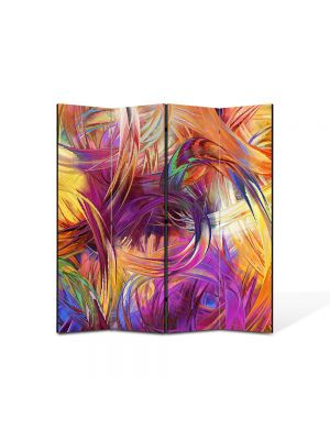 Paravan de Camera ArtDeco din 4 Panouri Abstract Decorativ Vopseluri 140 x 150 cm