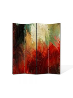 Paravan de Camera ArtDeco din 4 Panouri Abstract Decorativ Pictura abstracta 140 x 150 cm