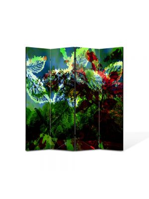 Paravan de Camera ArtDeco din 4 Panouri Abstract Decorativ Scenariu de culori 140 x 150 cm