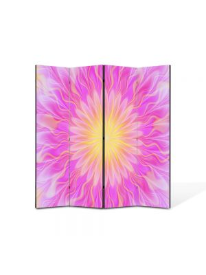 Paravan de Camera ArtDeco din 4 Panouri Abstract Decorativ Lumina pufoasa 140 x 150 cm