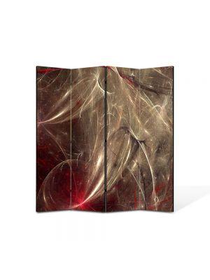 Paravan de Camera ArtDeco din 4 Panouri Abstract Decorativ Aglomeratie 140 x 150 cm