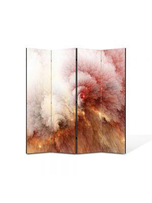 Paravan de Camera ArtDeco din 4 Panouri Abstract Decorativ Explozie 140 x 150 cm