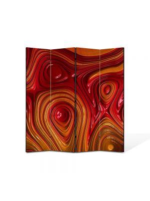 Paravan de Camera ArtDeco din 4 Panouri Abstract Decorativ Unduiri de lumina 140 x 150 cm