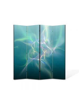 Paravan de Camera ArtDeco din 4 Panouri Abstract Decorativ Descarcari electrice 140 x 150 cm