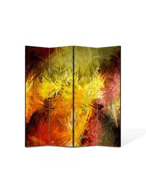 Paravan de Camera ArtDeco din 4 Panouri Abstract Decorativ Pictura 140 x 150 cm