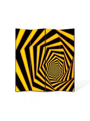 Paravan de Camera ArtDeco din 4 Panouri Abstract Decorativ Spirala spre infinit 140 x 150 cm