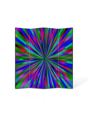 Paravan de Camera ArtDeco din 4 Panouri Abstract Decorativ Spre centru 140 x 150 cm