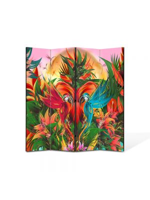 Paravan de Camera ArtDeco din 4 Panouri Abstract Decorativ Gradina abstracta 140 x 150 cm