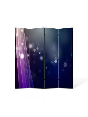 Paravan de Camera ArtDeco din 4 Panouri Abstract Decorativ Fascicule de lumina 140 x 150 cm