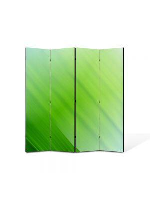 Paravan de Camera ArtDeco din 4 Panouri Abstract Decorativ Verzui 140 x 150 cm