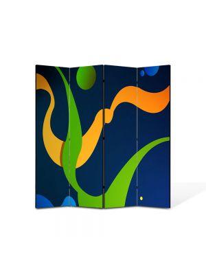 Paravan de Camera ArtDeco din 4 Panouri Abstract Decorativ De basm 140 x 150 cm