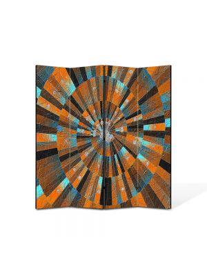 Paravan de Camera ArtDeco din 4 Panouri Abstract Decorativ Scara abstracta 140 x 150 cm