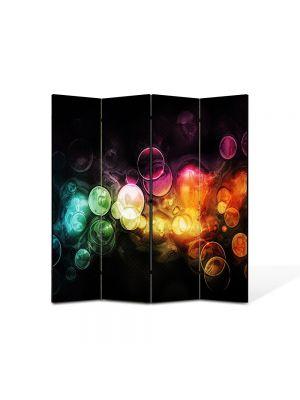 Paravan de Camera ArtDeco din 4 Panouri Abstract Decorativ Lumini in ploaie 140 x 150 cm
