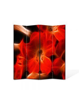 Paravan de Camera ArtDeco din 4 Panouri Abstract Decorativ Floare abstracta 140 x 150 cm