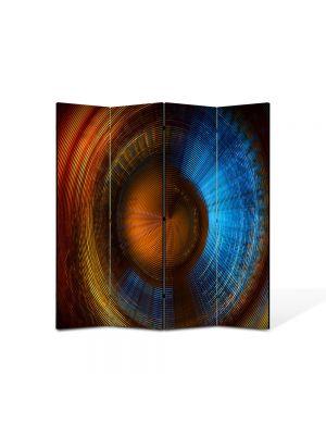 Paravan de Camera ArtDeco din 4 Panouri Abstract Decorativ Membrana 140 x 150 cm